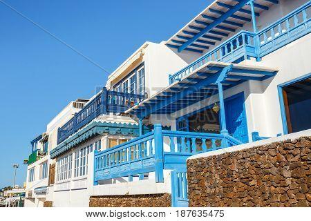 Playa Blanca, Lanzarote, 30 March, 2017: Promenade In Marina Rubicon In Playa Blanca, Lanzarote, Can
