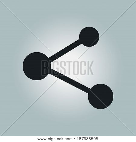 Share  sign icon. Vector of flat design style.