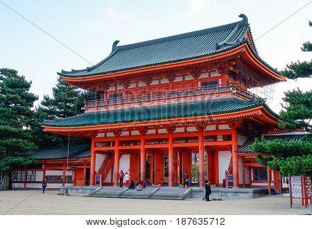 Heian Temple In Kyoto, Japan