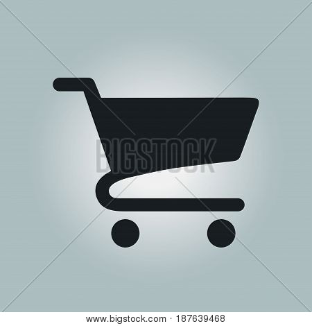 Flat icon of shopping chart. Add a product to the cart.