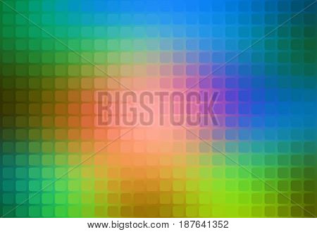 Pink Green Blue Abstract Rounded Mosaic Background