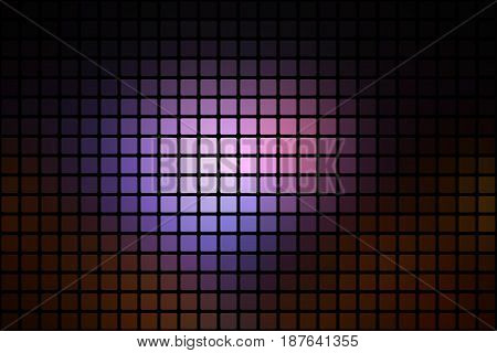 Purple Brown Black Abstract Rounded Mosaic Background Over Black