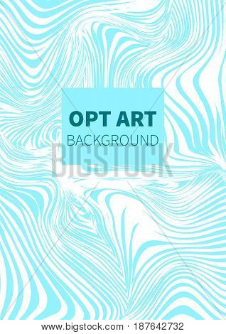 Opt art. Hipster vector card banner flyer.