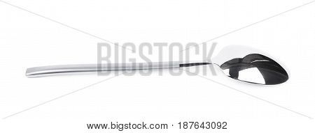 Metal teaspoon isolated over the white background