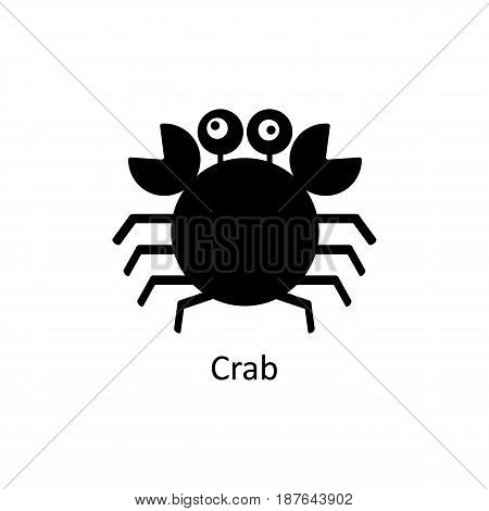Crab icon. Logo template for design, visit card, signage. Vector