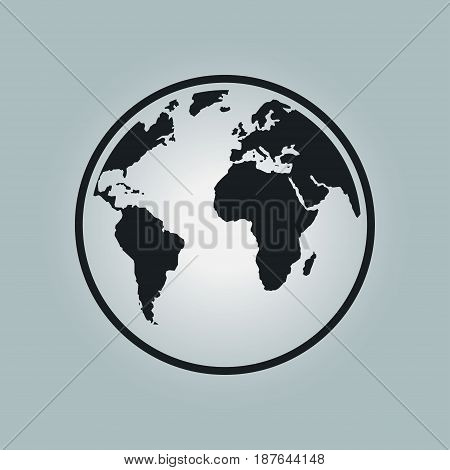 Globe icon. Traveling on the planet Earth. Trip around the world.