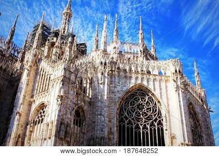 Milan Cathedral, Duomo di Milano, one of the largest churches in the world .