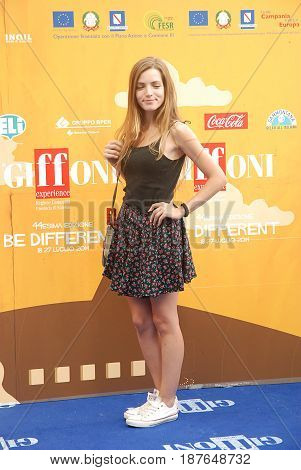 Giffoni Valle Piana Sa Italy - July 24 2014 : Aurora Ruffino at Giffoni Film Festival 2014 - on July 24 2014 in Giffoni Valle Piana Italy