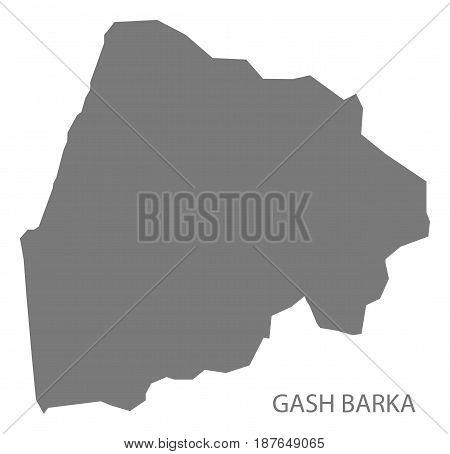 Gash Barka Eritrea Map Grey Illustration Silhouette