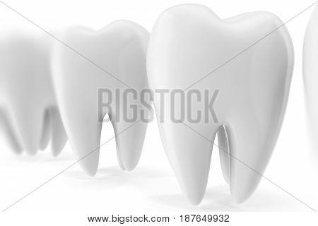 Tooth 3D Dental, medicine and health concept design element. 3D rendering