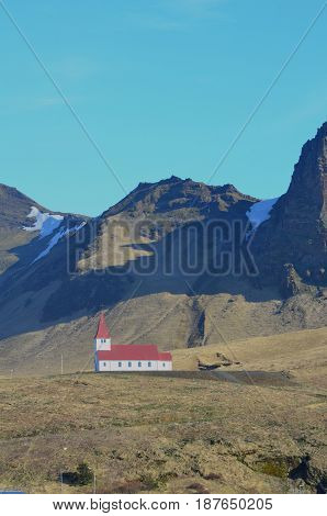 Chapel located in the village of Vik in Southern Iceland.