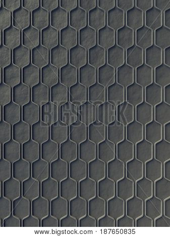 Gray wave band abstract texture surface pattern. 3d rendering