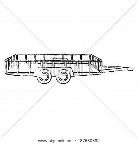 dump trailer cargo transport shipping image vector illustration