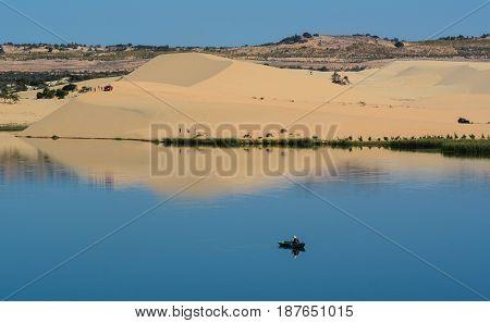 Lake Scenery In Mui Ne Township, Vietnam