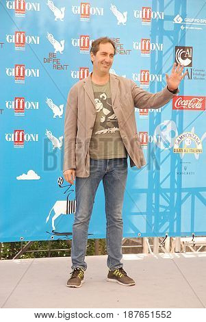 Giffoni Valle Piana Sa Italy - July 26 2014 : Paolo Calabresi at Giffoni Film Festival 2014 - on July 26 2014 in Giffoni Valle Piana Italy