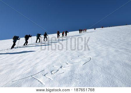 trekking group & Mountaineering activities & mountains