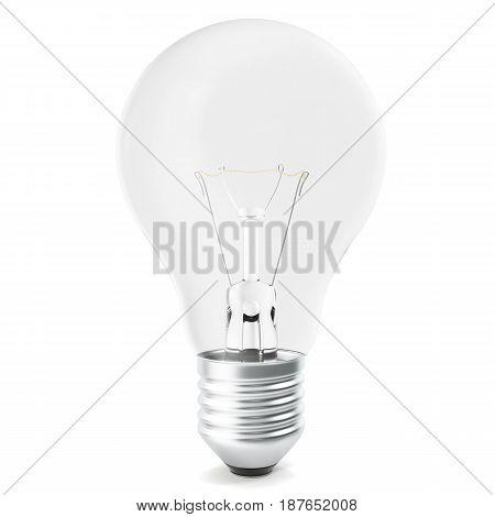 Light bulb isolated on white backgorund. 3d rendering
