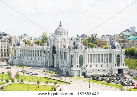 Panoramic view of historical buildings, city ladscape