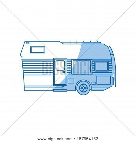 trailer camping transport recreation tourism vector illustration