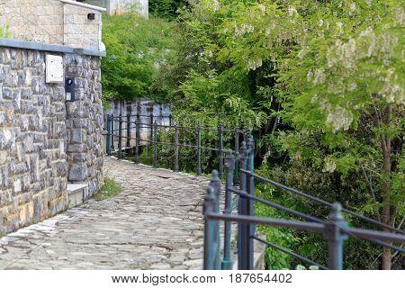 The Lungomare road in Opatija in Croatia.