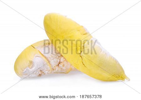 yellow durian king of fruits and tropical fruit isolated on white background