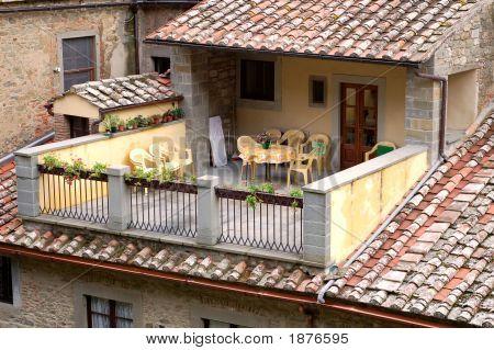 Sunny Tuscan Patio