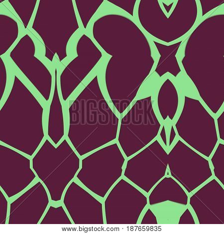 Seamless Colored Pattern Created And Rendered In 3D Application