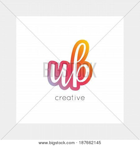 Ub Logo, Vector. Useful As Branding, App Icon, Alphabet Combination, Clip-art.