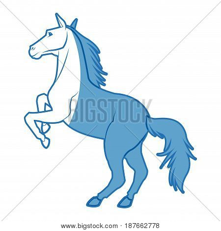 Horse on two legs animal equine image vector illustration