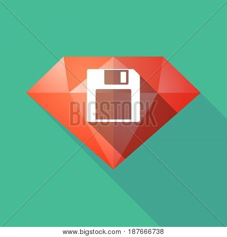 Long Shadow Diamond With A Floppy Disk