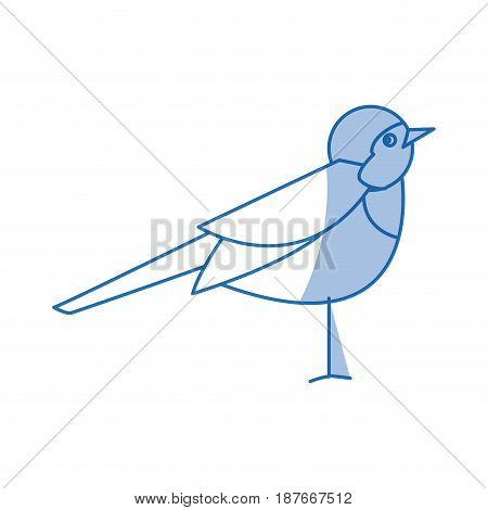 cute bird in a winter christmas image vector illustration