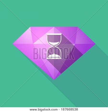 Long Shadow Diamond With A Sand Clock