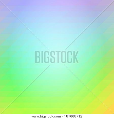 Purple Blue Yellow Rows Of Triangles Background, Square
