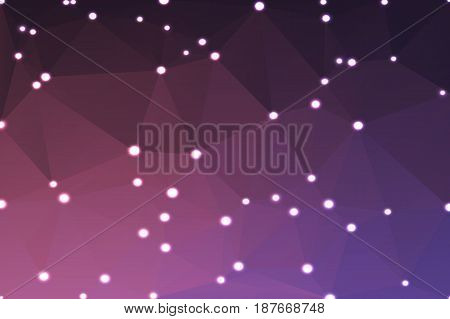 Purple Blue Pink Geometric Background With Lights