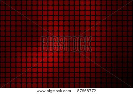 Deep Burgundy Red Abstract Rounded Mosaic Background Over Black