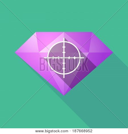 Long Shadow Diamond With A Crosshair
