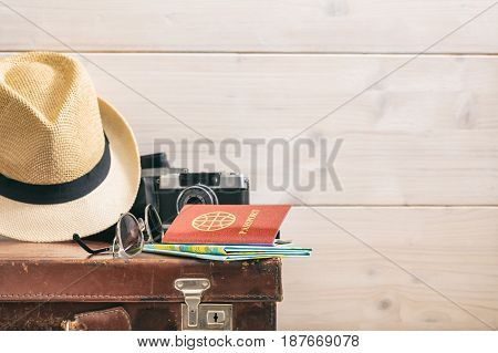 Travel Concept On White Background - Copy Space