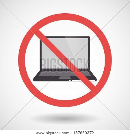 Isolated Forbidden Signal With A Laptop