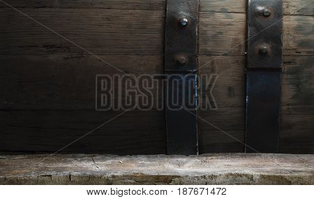 Wooden oak barrel isolated on white background.