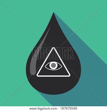 Long Shadow Oil Drop With An All Seeing Eye