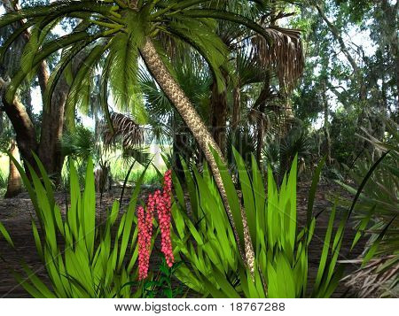 jungle rainforest scene