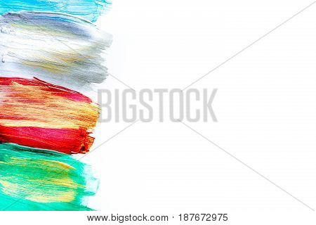 abstract pattern with multicolored oil paintings texture for artist design space for text