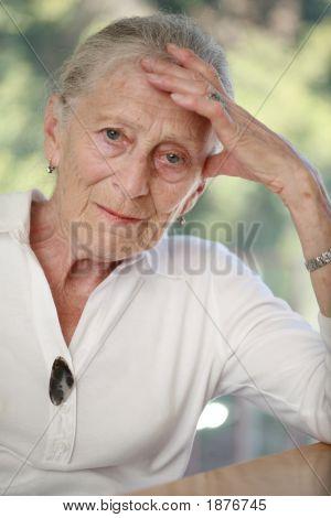 Portrait Of A Senior Woman. Shallow Dof.