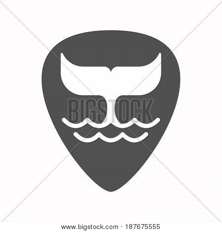 Isolated Guitar Plectrum With A Whale Tail