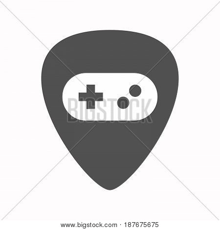 Isolated Guitar Plectrum With A Game Pad