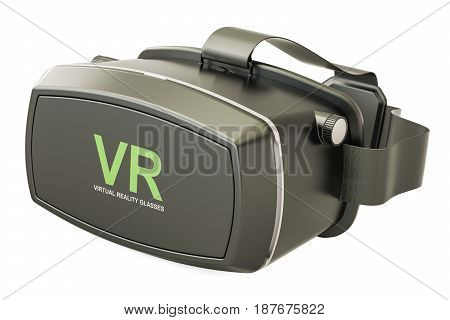 Virtual reality glasses 3D rendering isolated on white background