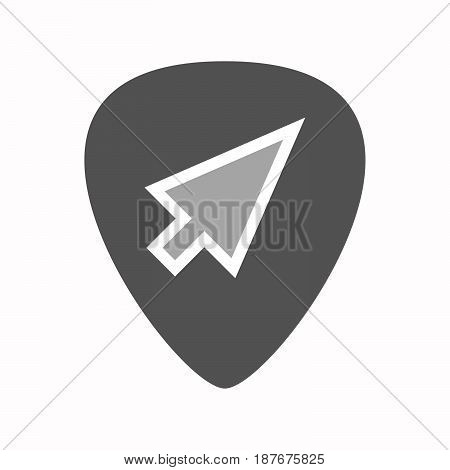 Isolated Guitar Plectrum With A Cursor