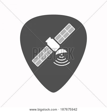 Isolated Guitar Plectrum With A Satellite