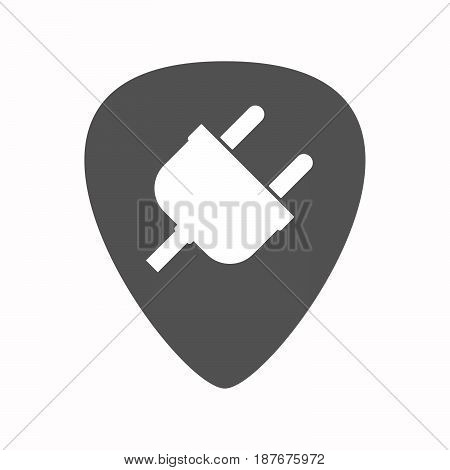 Isolated Guitar Plectrum With A Plug