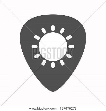 Isolated Guitar Plectrum With A Sun